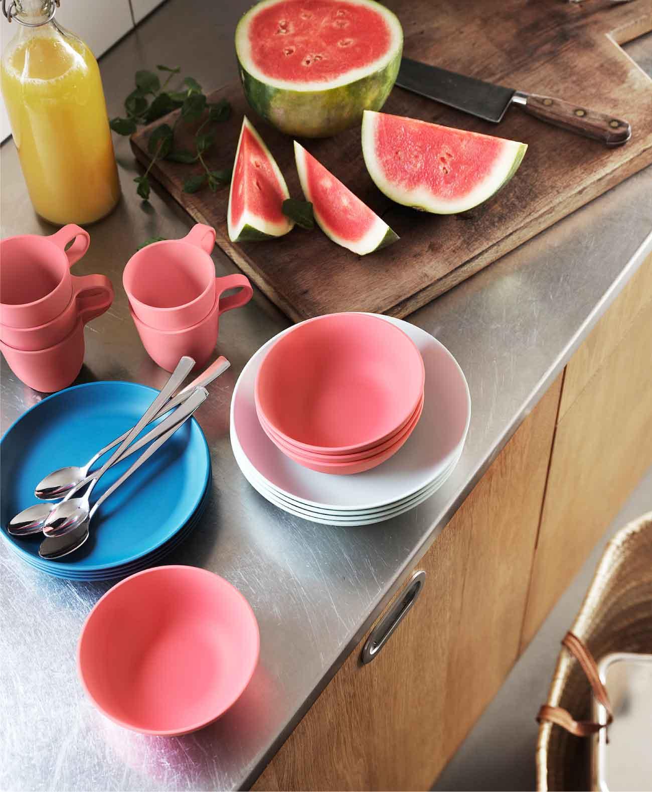 accessori tavola in plastica riciclata