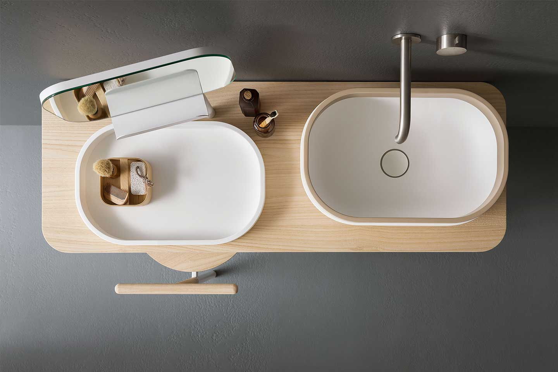 lavabi sistema Oblon di Novello
