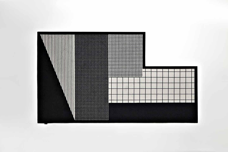 tappeti in bianco e nero effetto optical