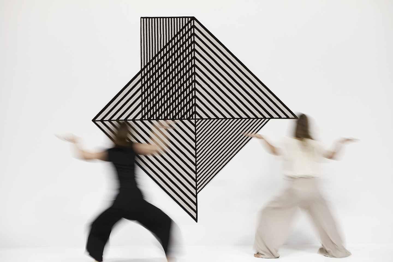 tappeti a righe bianco e nero