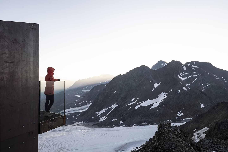 piattaforma sul ghiaccio della Val Senales