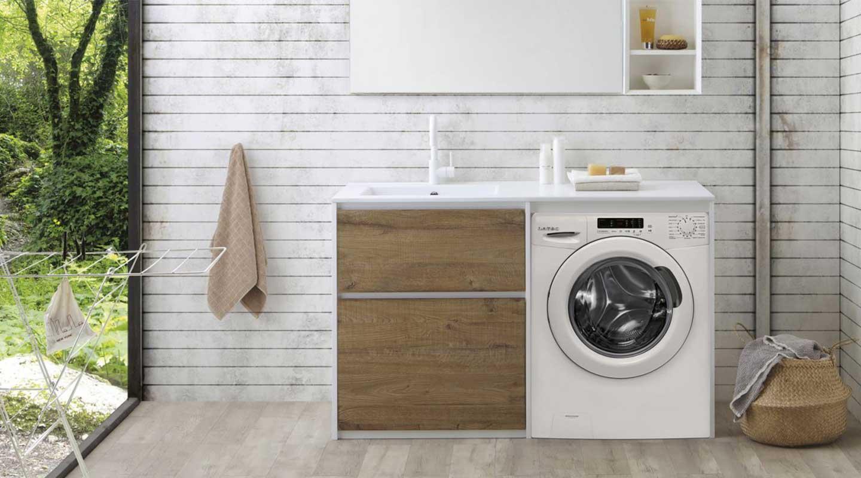 mobile lavanderia coprilavatrice integrato