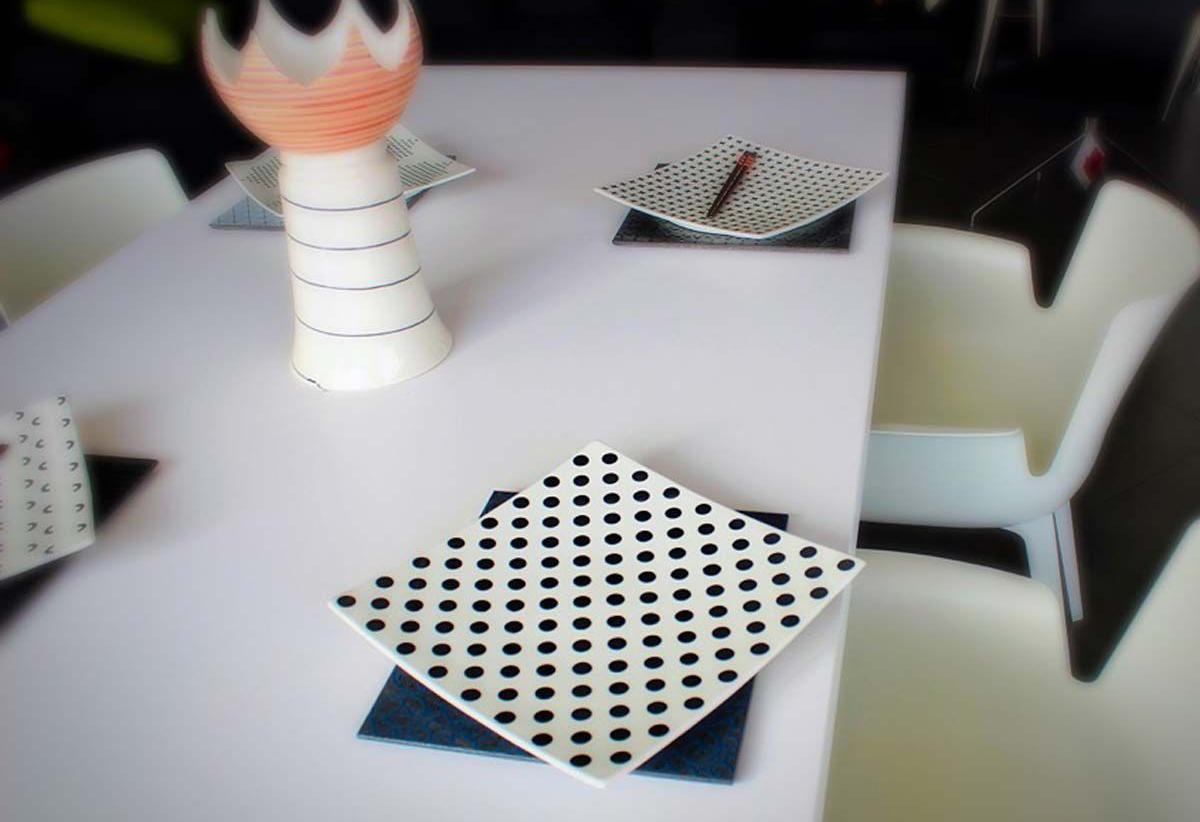piatti in ceramica decorata
