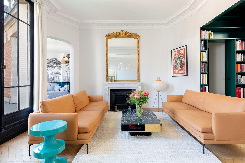 Appartamento duplex ristrutturato da Charlotte Féquet