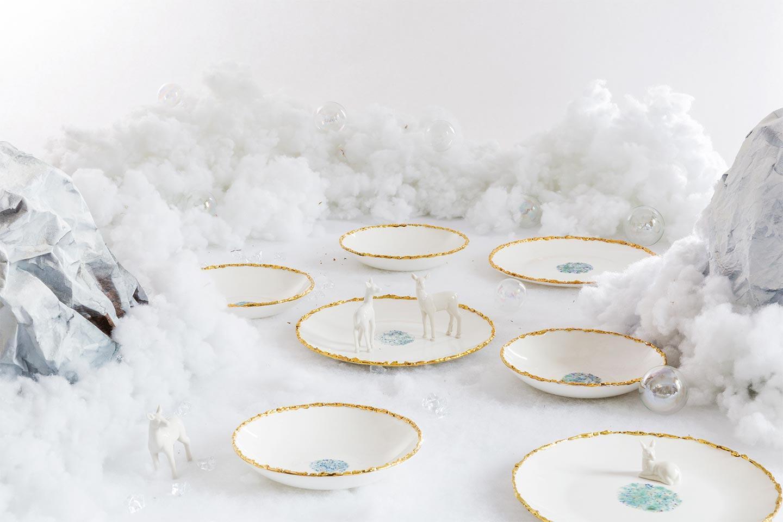 piatti Blue Marble a Natale