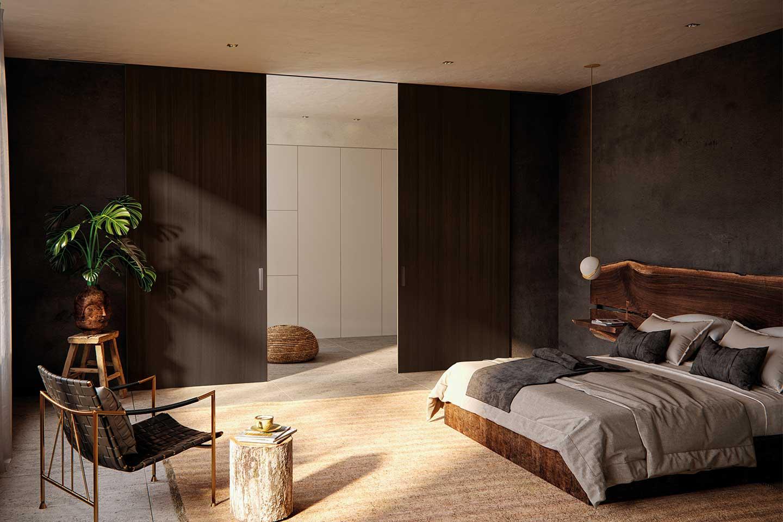pareti scorrevoli in camera da letto