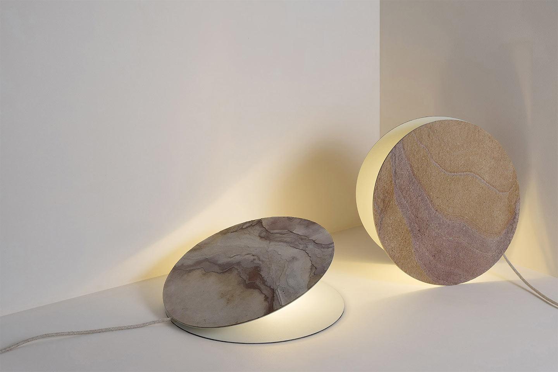 lampada in pietra naturale