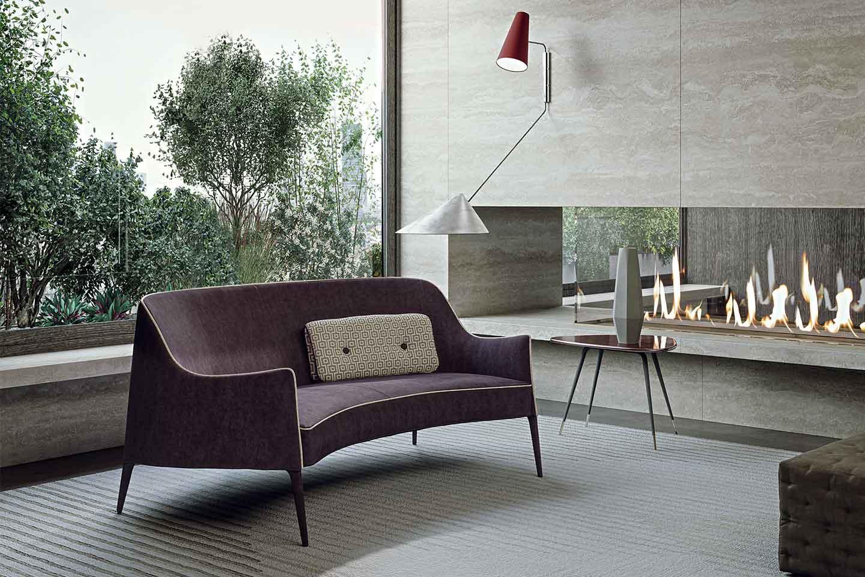 divano a due posti classico contemporaneo