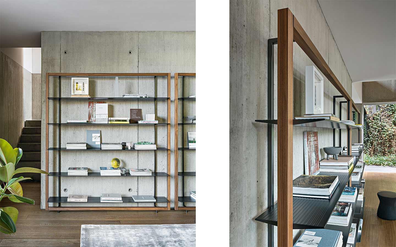 libreria metallo e legno di Bonaldo
