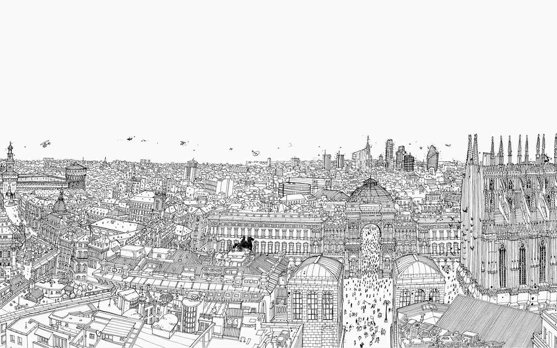 illustrazione I'am Milan di Carlo Stanga