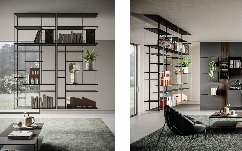 libreria sospesa in metallo di Ronda Design