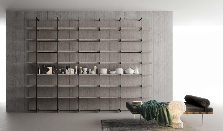 libreria metallo e legno di Zampieri