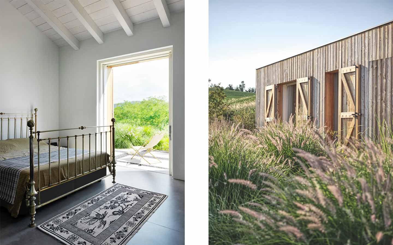 camera da letto di una casa di campagna