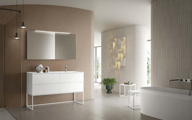 mobile bagno bianco e minimal