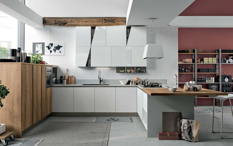 cucina Stosa Infinity con penisola