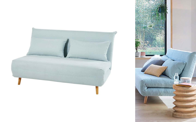 divano letto 2 posti azzurro