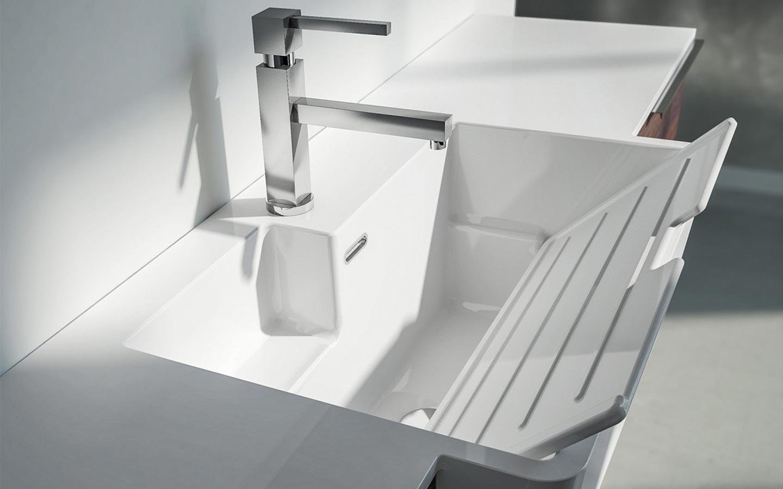 lavabo con lavatoio per lavanderia