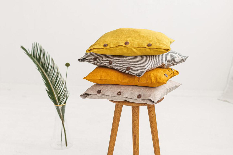 cuscini arredo in lino