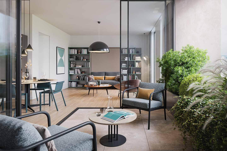 appartamento con terrazza complesso GrofaloPaisiello