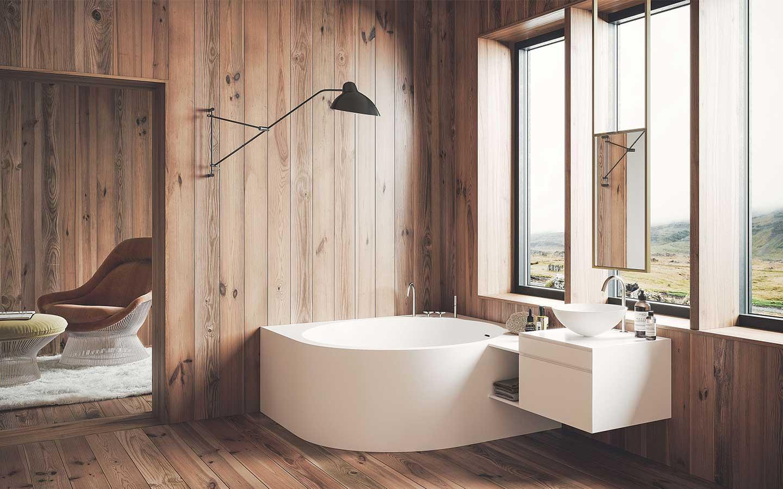 vasca da bagno ad angolo