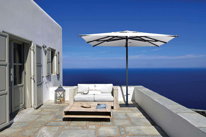 ombrellone sulla terrazza