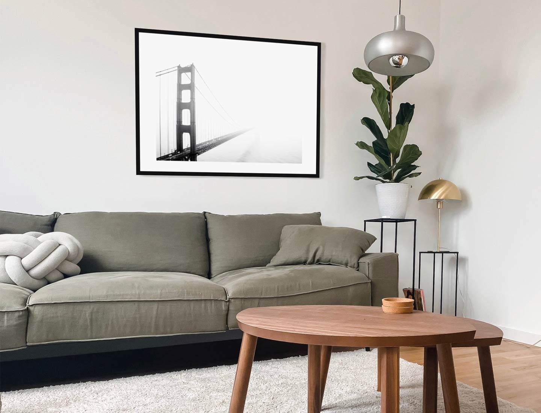 stampa fotografica ponte bianco e nero