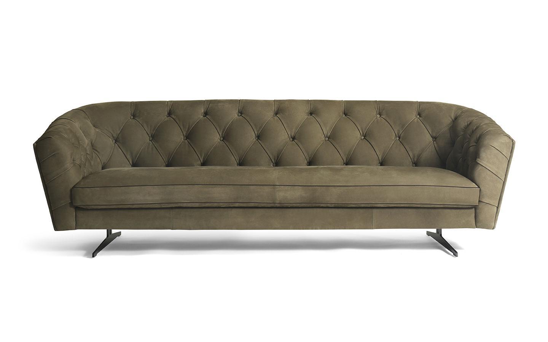 divano in pelle Nabuk