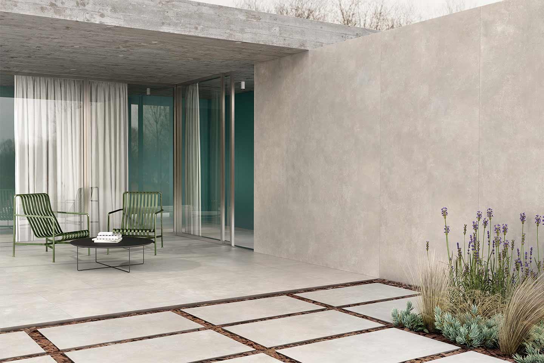 pavimento esterno gres effetto cemento