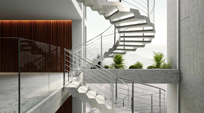scala esterna con gradini in gres