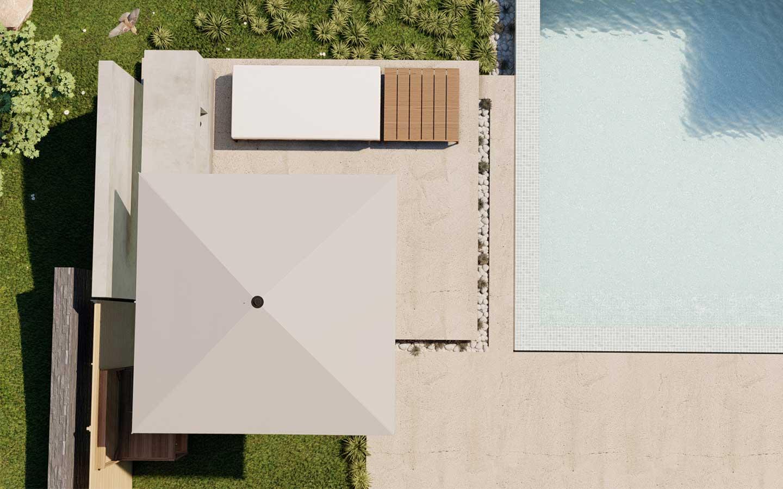 progetto d'arredo bordo piscina