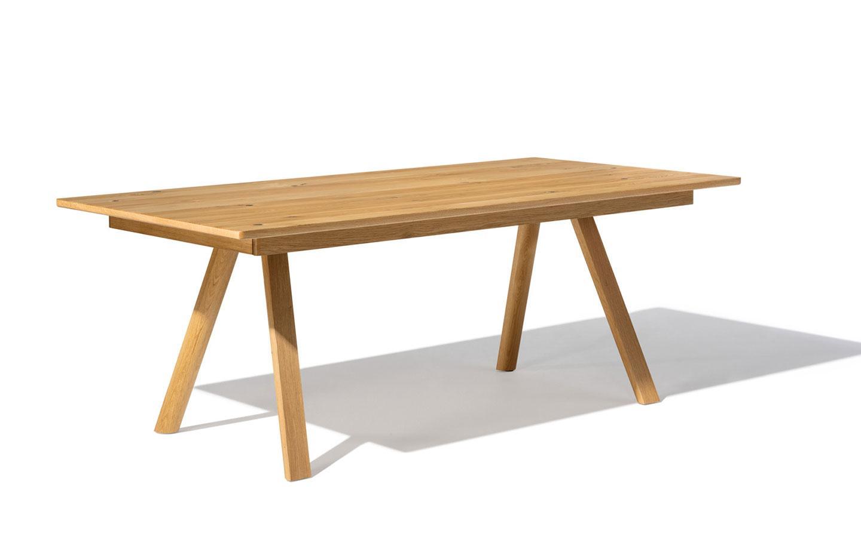 tavolo legno naturale gambe a cavalletto