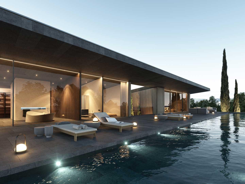 piscina di Villa Etna