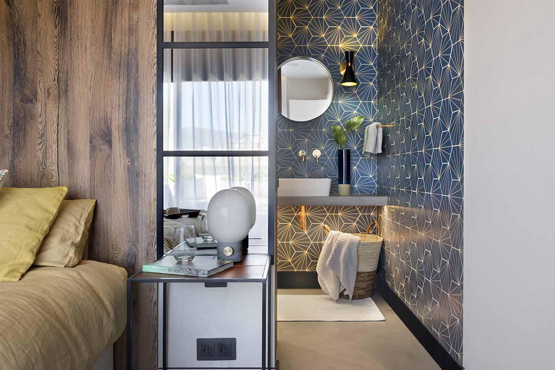 camera da letto con bagno