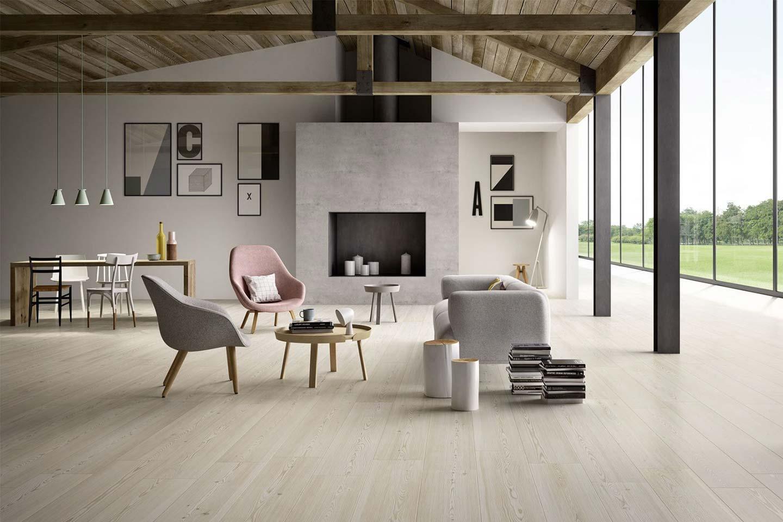pavimento gres effetto legno larice bianco