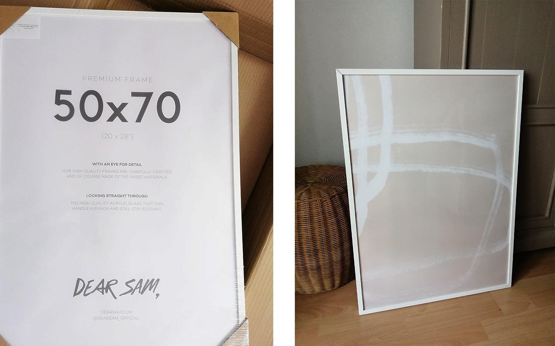cornice in legno bianca per poster