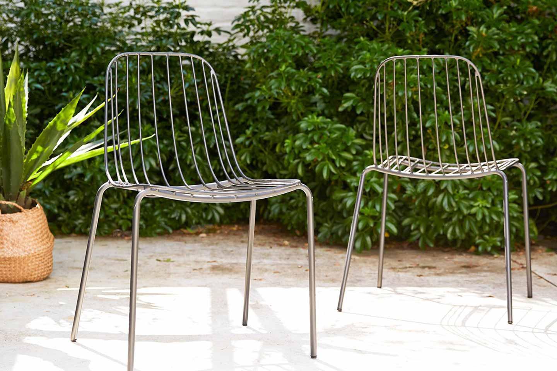 sedie da esterno in metallo