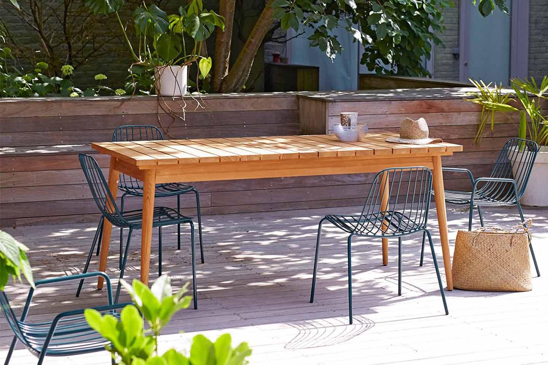 tavolo da giardino in legno di teak
