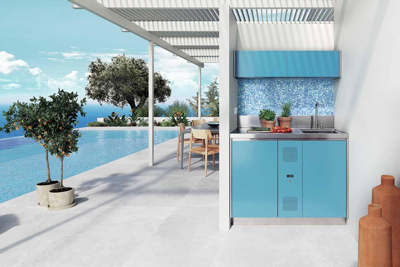 mini cucina a bordo piscina