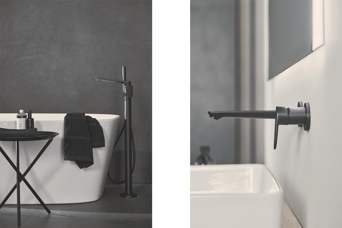rubinetteria bagno nera