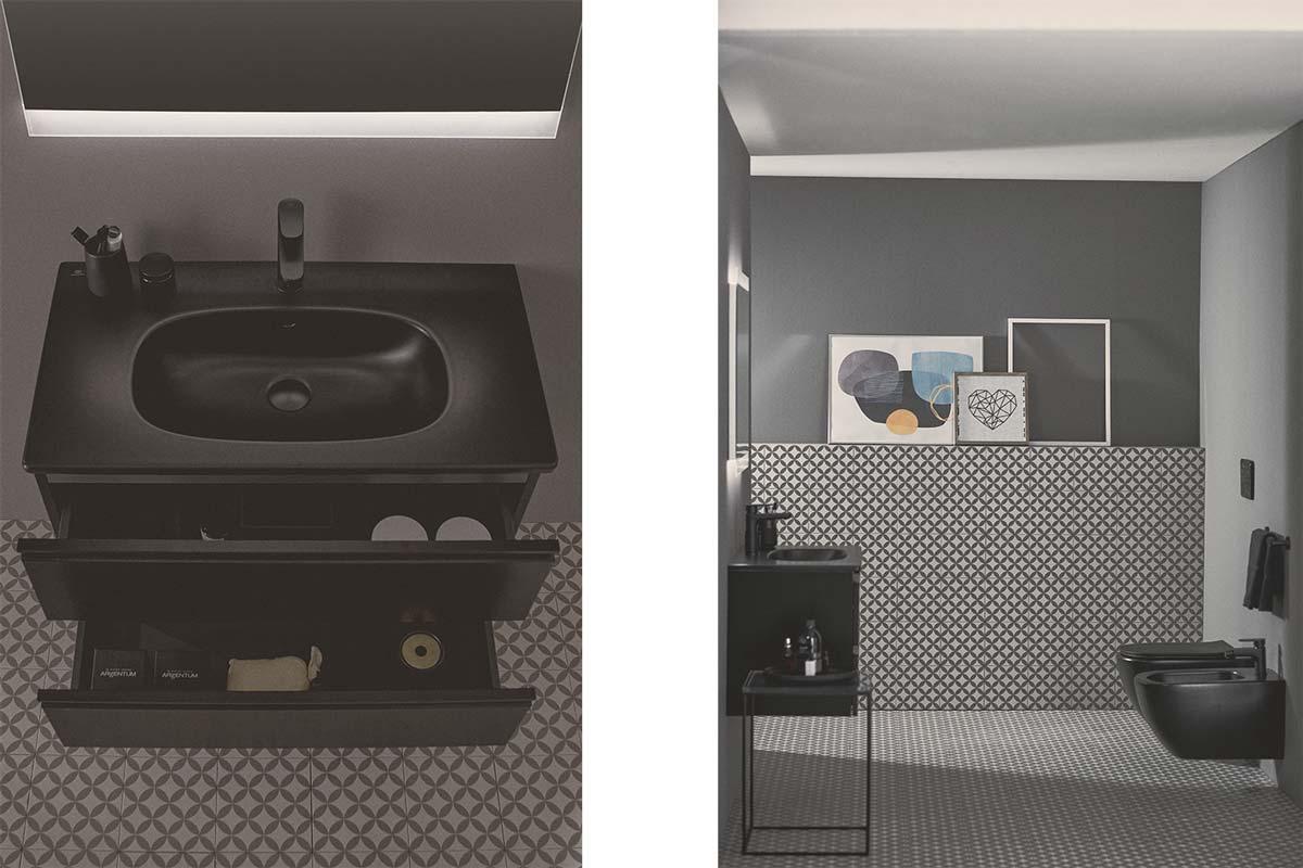 bagno moderno nero