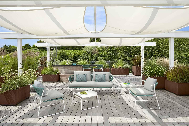 divano e poltrone da giardino Lisa di S•CAB
