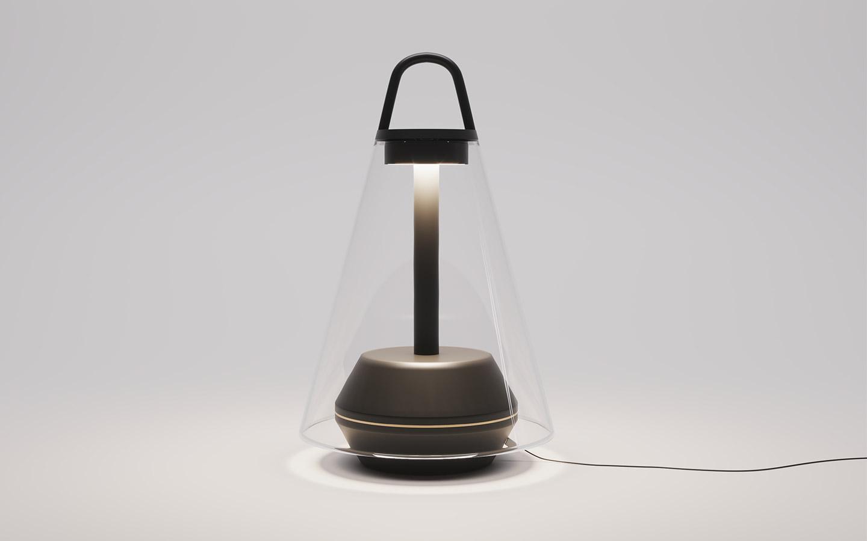 lampada da tavolo senza fili per esterno e interni