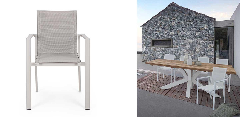sedia impilabile da esterno