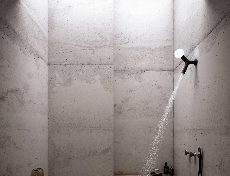 soffione doccia con luce