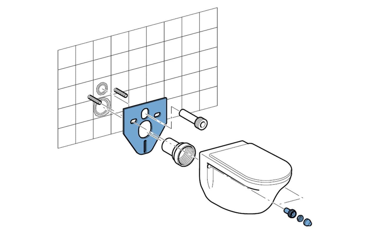 posa della colonna di scarico del wc
