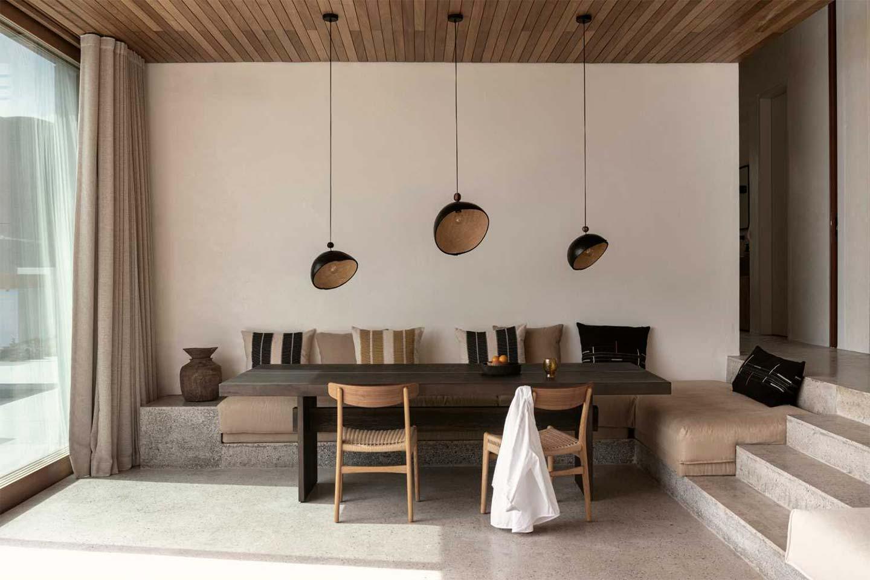 zona pranzo Villa Apollon a Lefkada