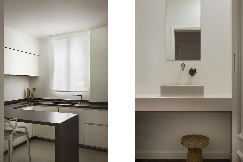 cucina e bagno progetto Tamborini di Dainelli Studio