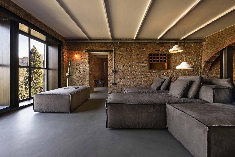 soggiorno stile industriale loft Umamma