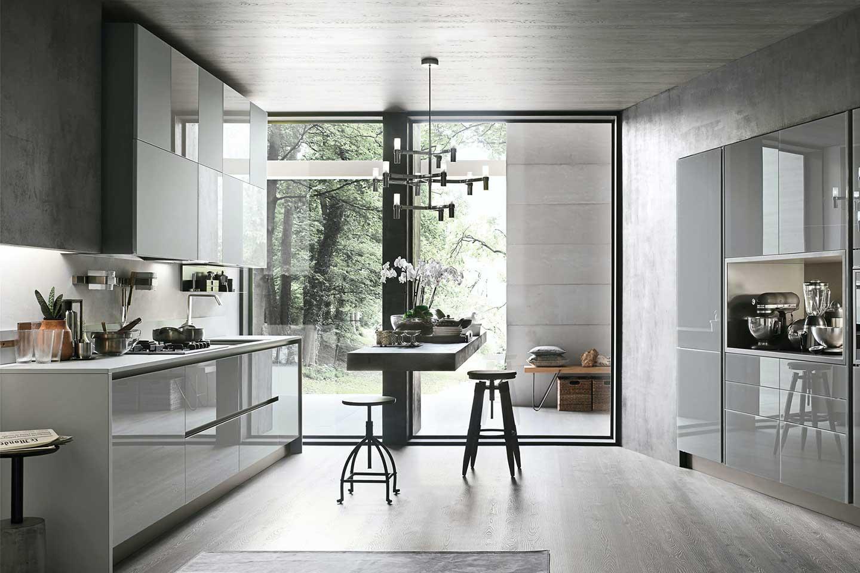 cucina moderna con top al quarzo