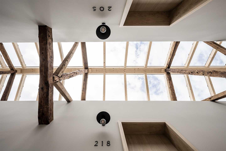 tetto in vetro Monastero Arx Vivendi